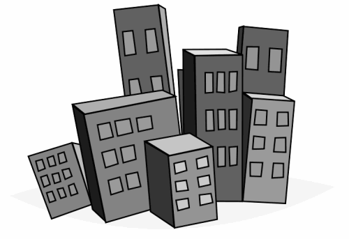 Free cityscape clipart public domain buildings clip art images
