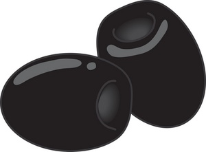 Olive clipart image black olives