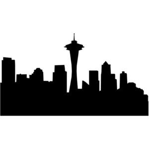Seattle cityscape clipart