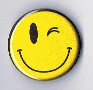 Smilye face wink clipart