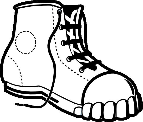 Sneaker bw clip art at vector clip art