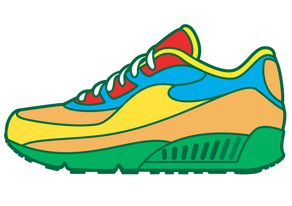 Sneaker vector free clipart