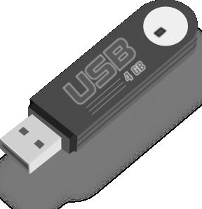 Usb flash drive clip art at vector clip art