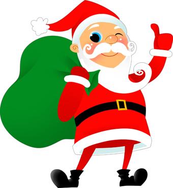 Winking santa clipart