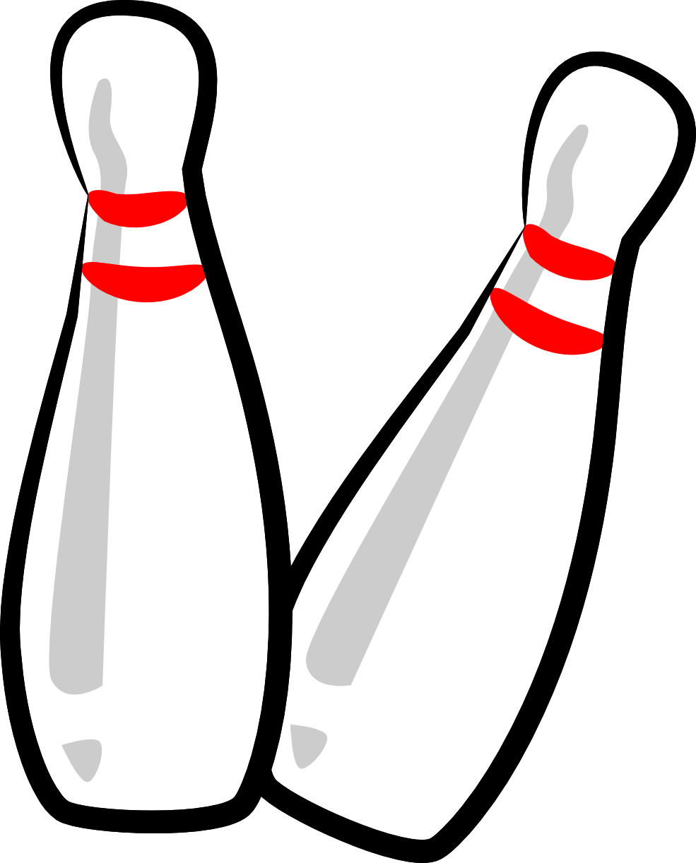 Bowling ball bowling pin clipart