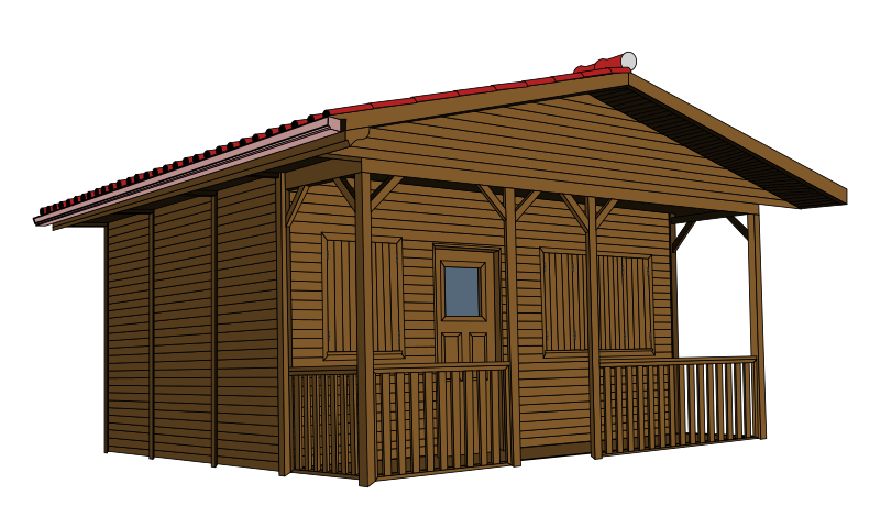 Free log cabin clipart image