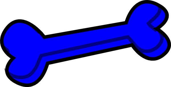 Dog bone blue clip art at vector clip art