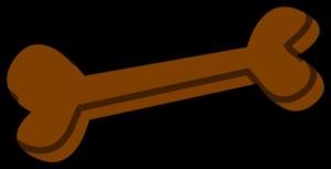 Dog bone brown clip art at vector clip art