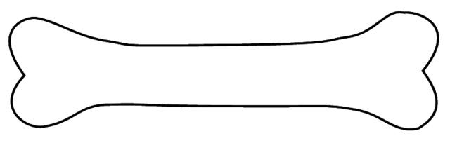 Dog bone outline clip art