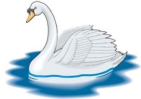 Free swan clipart 2