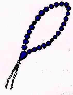 Rosary buddhist clip art