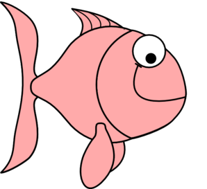 Salmon pink fish bubbles clip art free clipart images