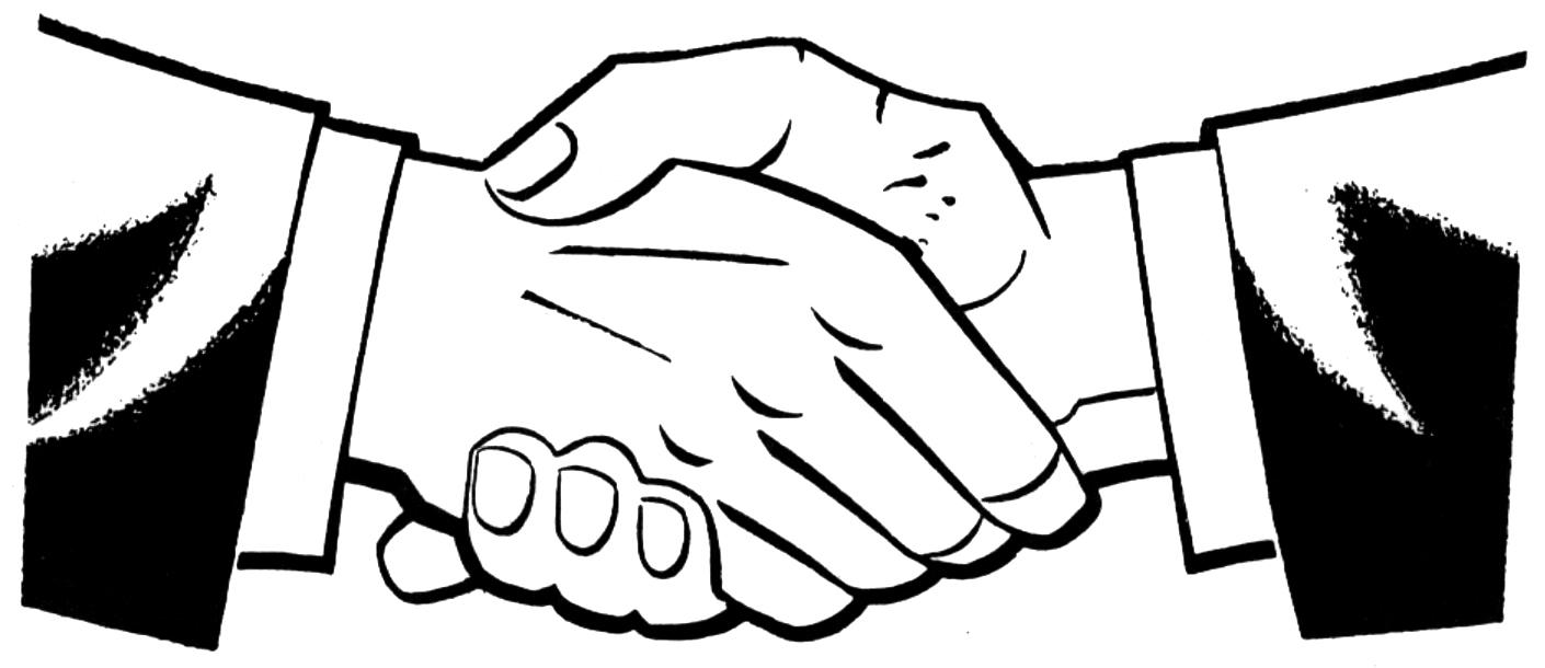 Shaking hands clip art clipart
