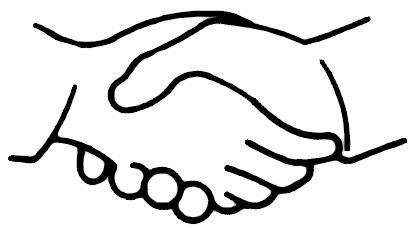 Shaking hands handshake clipart free