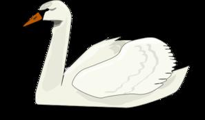 White swan clip art at vector clip art
