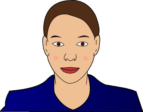 Woman clip art free vector