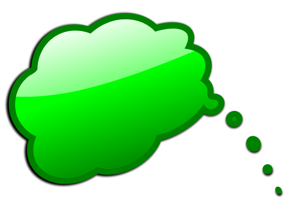Word bubble colored speech bubble clipart