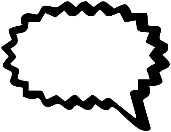 Word bubble comic speech bubble clip art clipart