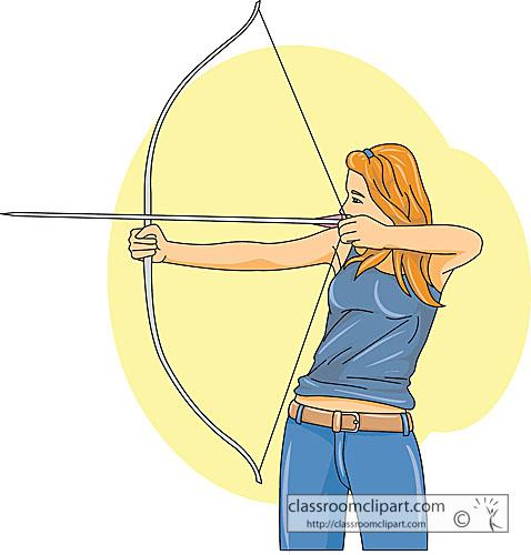 Archery clipart girl archery a classroom clipart