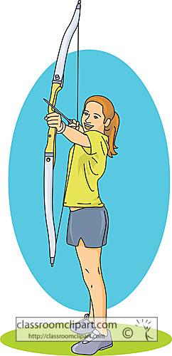 Archery clipart girl bow arrow archery classroom clipart