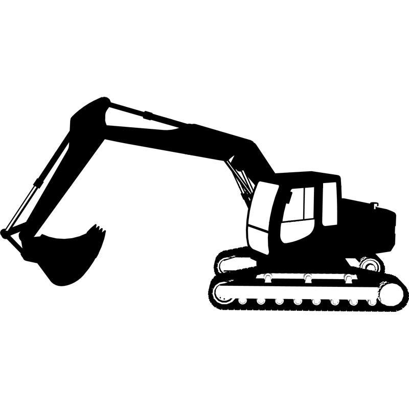 Backhoe bulldozer clip art