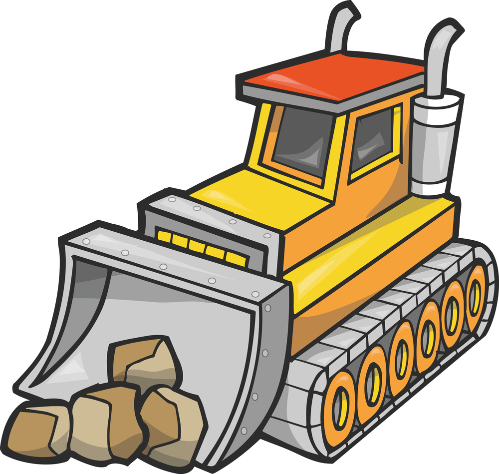 Backhoe bulldozer clipart free clipart images