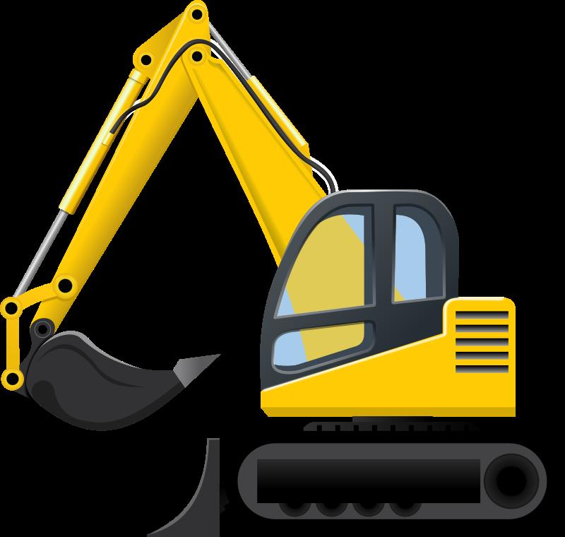 Backhoe excavator clip art