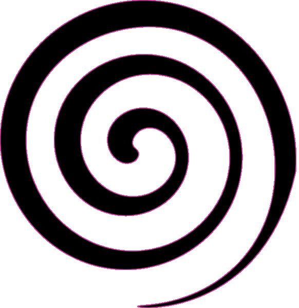 Black spiral lollipop clip art vector clip art