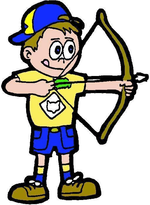 Cub scout archery clipart