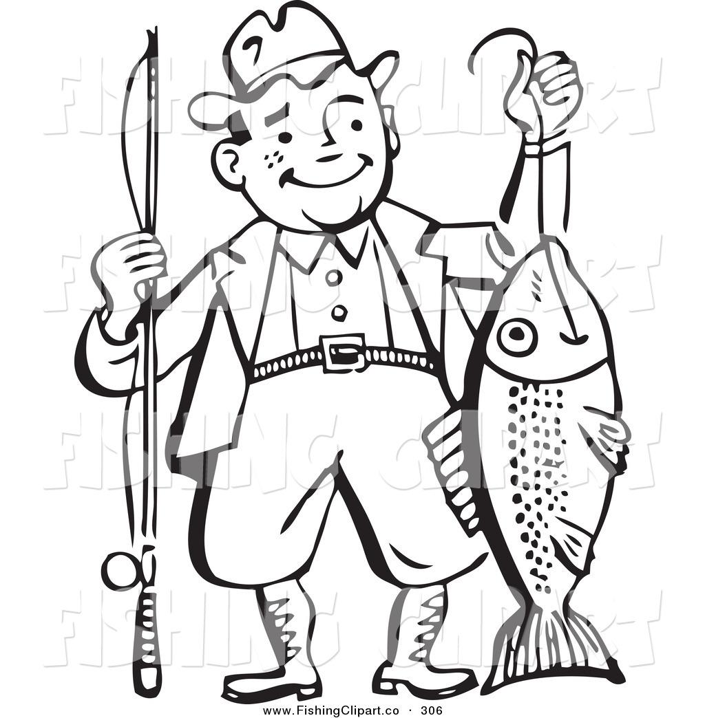 Fisherman castle clipart