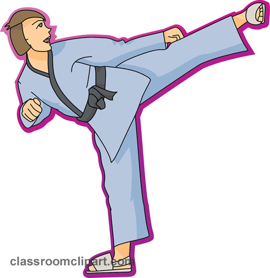 Karate clip art borders free clipart images 2
