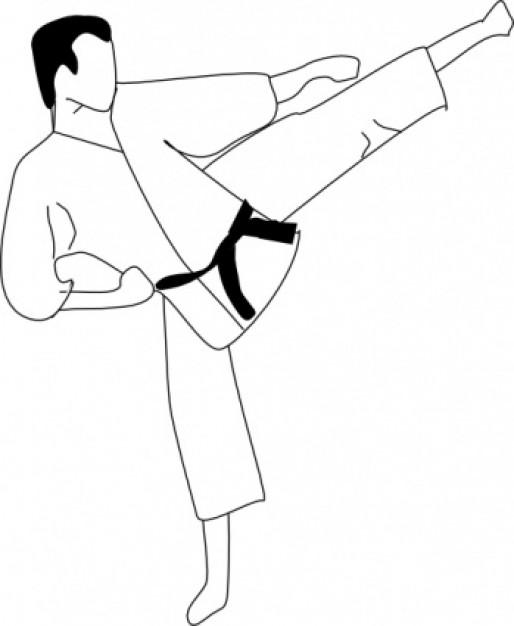 Karate clip art free clipart