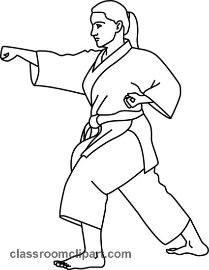 Karate Clipart Karate Outline Classroom Clipart Image 21975