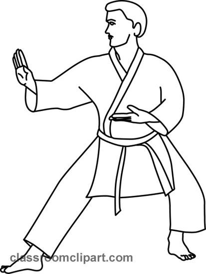 Karate clipart karate outline gesture classroom clipart