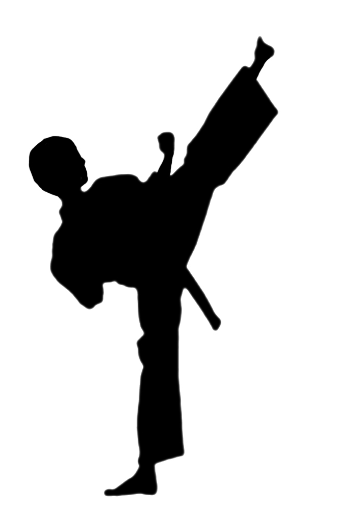 Karate silhouette clipart