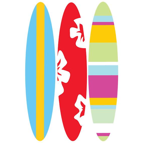 Surfboard clip art 10