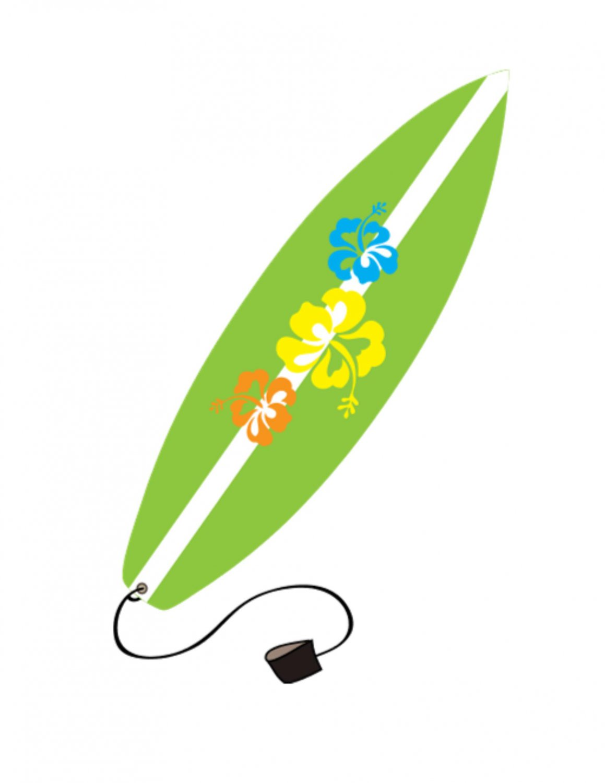 Surfboard clip art 3