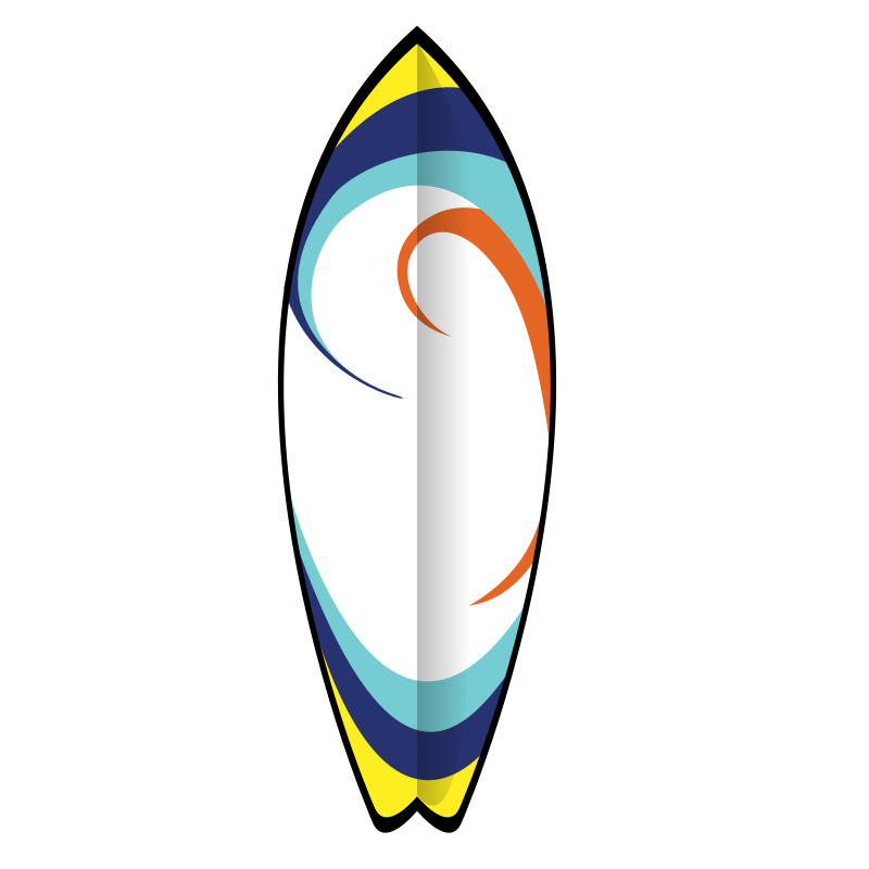 Surfboard clip art illustrations free clipart images