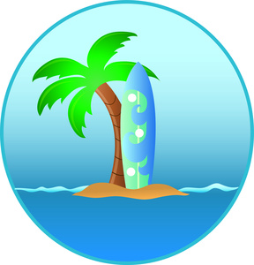 Surfboard clipart image free clipart images