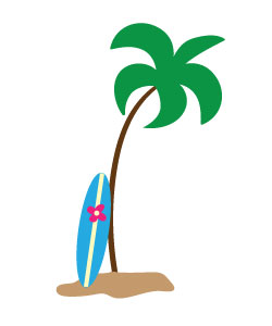 Surfboard summertime clipart free clipart images