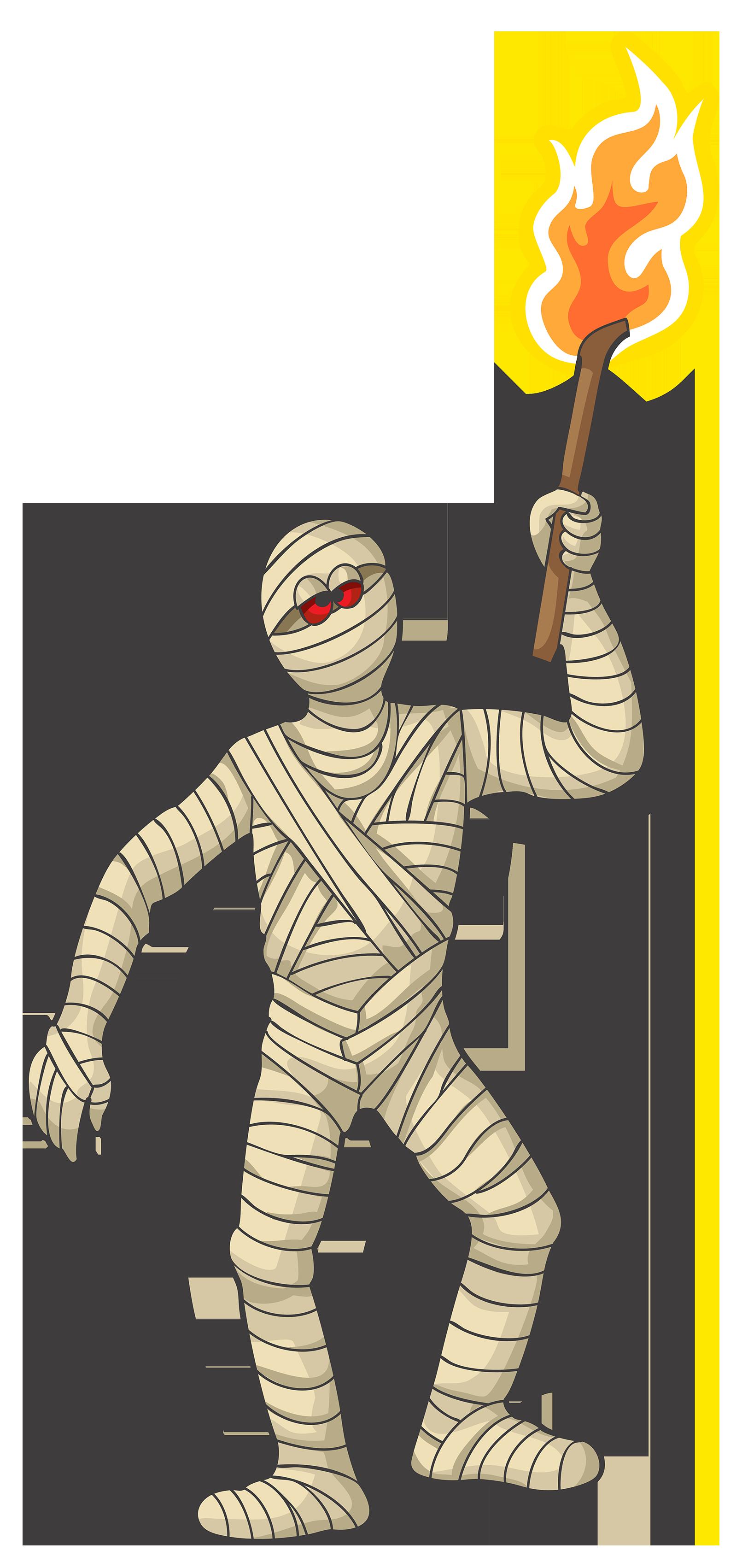 Halloween mummy clipart image 5