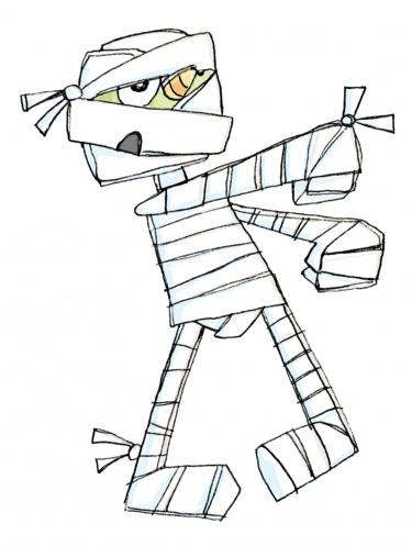 Mummy clip art 3