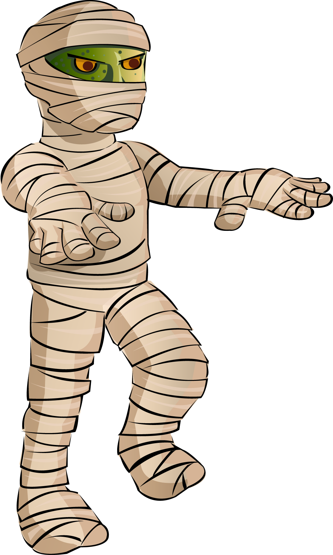 Mummy walking clipart fort