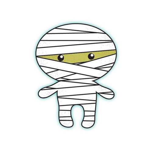 Picture of a mummy for halloween clipart