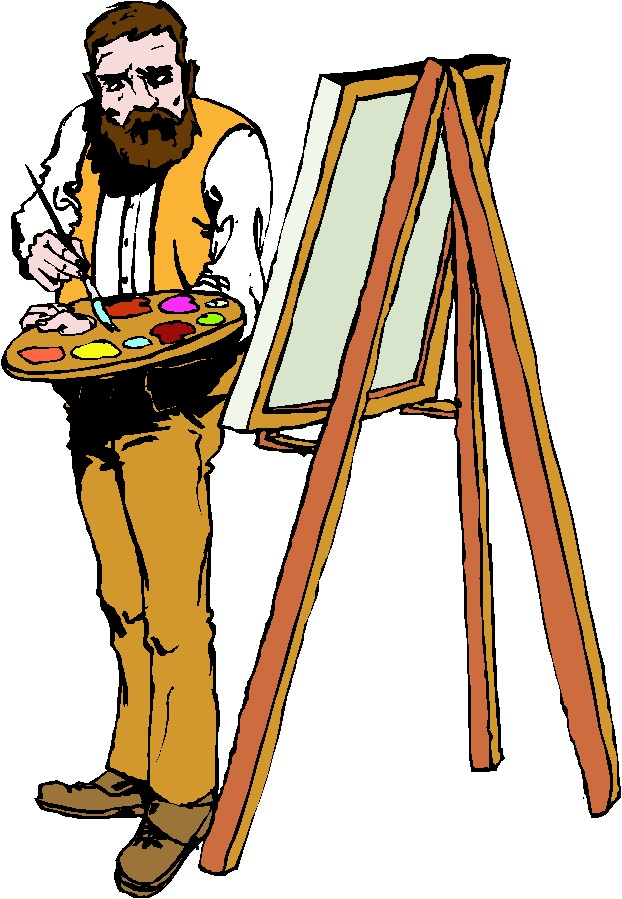 Artist clip art painting