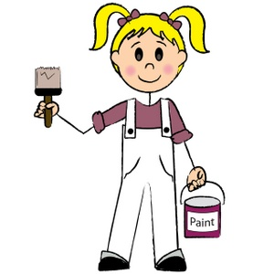 Artist house painter clipart free clipart images 2