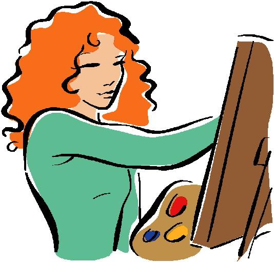 Artist painter clip art clipart