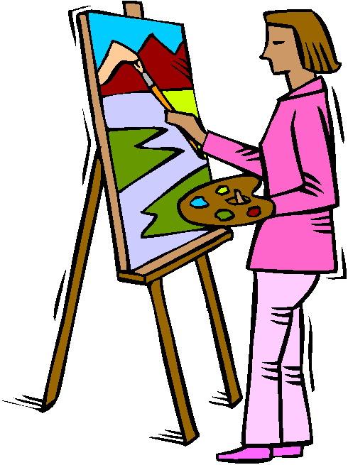Artist painter clipart free clipart images