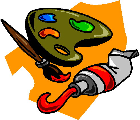 Artist painting clip art 3