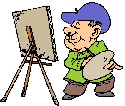 Artist painting clip art